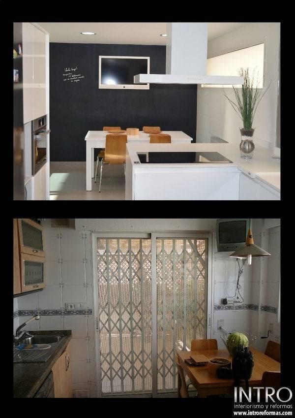 Cocina en blanco y negro trabajos de introreformas - Cocinas en blanco y negro ...