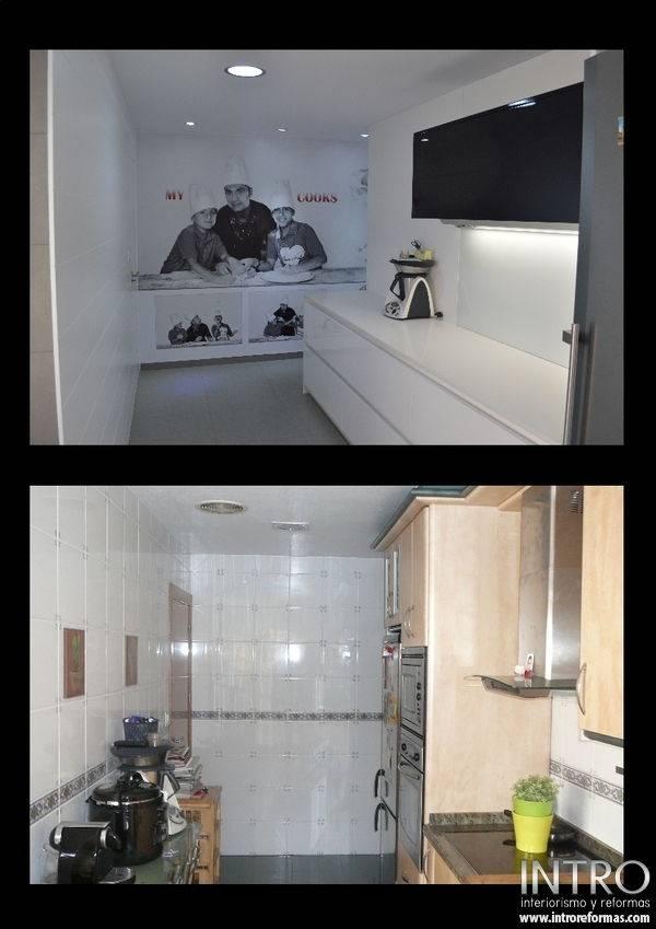 Cocinas blanco y negro top mueble de cocina blanco y - Cocinas en blanco y negro ...