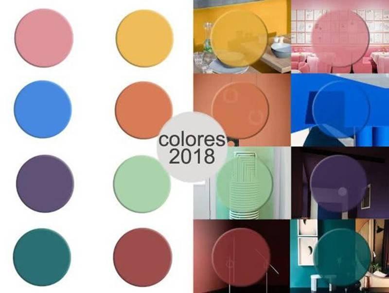 Paleta de colores para decoración en 2018
